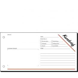 sigel Formularbuch Kurzmitteilung/Kurzbrief, 1/3 A4 quer