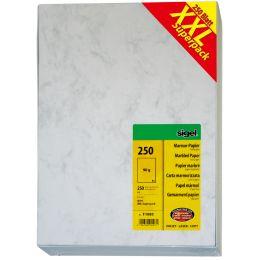 sigel Marmor-Papier XXL Superpack, A4, 90 g/qm, Feinpapier
