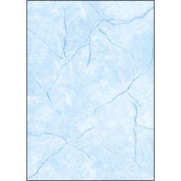 sigel Struktur-Papier, A4, 90 g/qm, Feinpapier, Granit blau