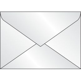 sigel Umschlag, transparent, gummiert, DIN lang, 100 g/qm