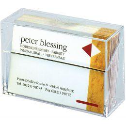 sigel Visitenkarten-Box, Hartplastik, glasklar, mit Deckel