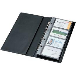 sigel Visitenkarten-Ringbuch, schwarz, matt, einreihig