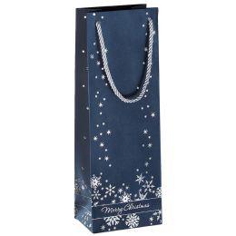 sigel Weihnachts-Flaschentüte Silver Snowflakes
