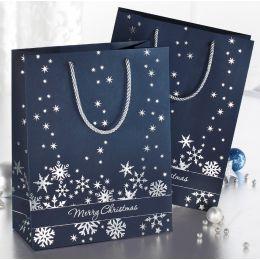 sigel Weihnachts-Geschenktüte Silver Snowflakes, klein