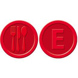 sigel Wertmarken Essen, aus Kunststoff, rot