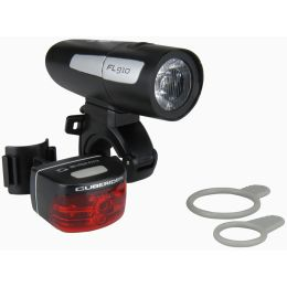 SIGMA Fahrrad LED-Beleuchtungs-Set FL 910 + CUBERIDER