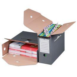 smartboxpro Archiv-Schachtel, für Hängeregister, grau