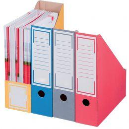 smartboxpro Archiv-Stehsammler, DIN A4, gelb, mit Greifloch