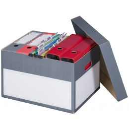 smartboxpro Archiv-/Transportbox S, anthrazit, Kleinpackung