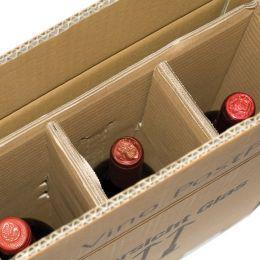 smartboxpro Flaschen-Versandkarton, für 3 Flaschen