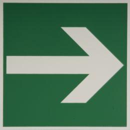 smartboxpro Hinweisschild Fluchtweg zur .., nachleuchtend