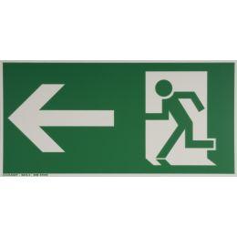 smartboxpro Hinweisschild Rettungsweg links, gerade
