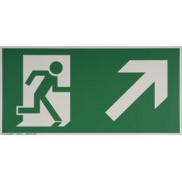 smartboxpro Hinweisschild Rettungsweg rechts, aufwärts