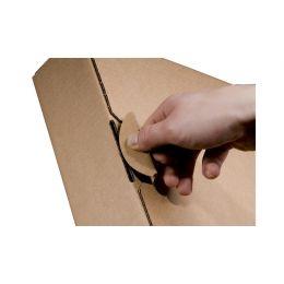smartboxpro Ordner-Versandkarton, braun, (B)80 mm