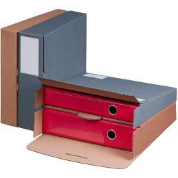 smartboxpro Ordner-Versandkarton, anthrazit, (B)50-80 mm