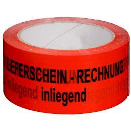 smartboxpro Signalklebeband Rechnung/Lieferschein..!, rot