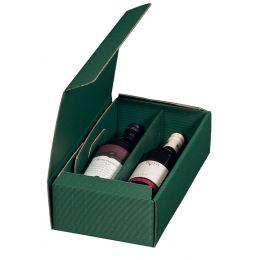 smartboxpro Wein-Präsentkarton, für 2 Flaschen, grün