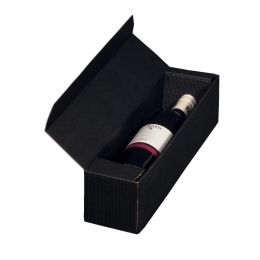 smartboxpro Wein-Präsentkarton, für 1 Flasche, schwarz