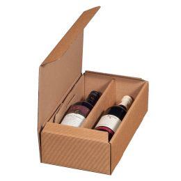 smartboxpro Wein-Präsentkarton, für 2 Flaschen, natura