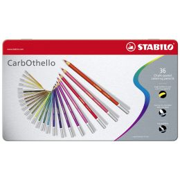 STABILO Pastellkreidestift CarbOthello, 12er Metall-Etui