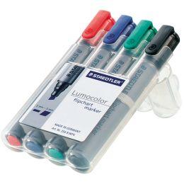 STAEDTLER Lumocolor Flipchart-Marker 356, 4er Etui