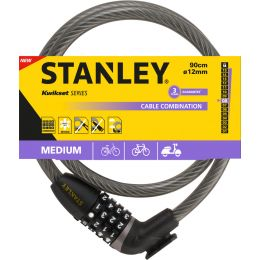 STANLEY Kabel-Fahrradschloss CABLE-COMBI, Länge: 900 mm