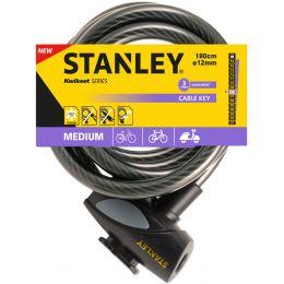 STANLEY Kabel-Fahrradschloss CABLE-KEY, Länge: 1.800 mm