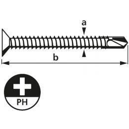 suki. Blechbohrschraube, Senkkopf, 4,2x32 mm, PH2