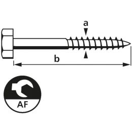 suki. Schlüsselschraube, 8x70 mm, 25 Stück