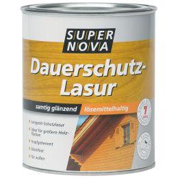 SUPER NOVA Dauerschutz-Lasur, teak, 750 ml