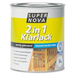 SUPER NOVA Klarlack 2in1 seidenglänzend, farblos, 750 ml