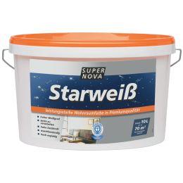 SUPER NOVA Wandfarbe Starweiß, weiß, 2,5 Liter