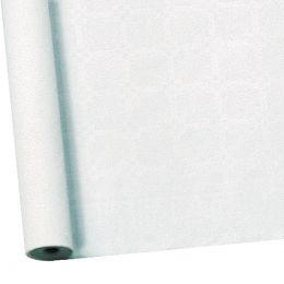 SUSY CARD Damast-Tischtuch, Rolle, 25 x 1 m, weiß