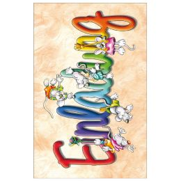 SUSY CARD Einladungskarte - Kindergeburtstag Mäuse