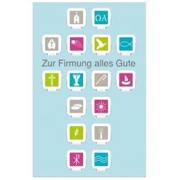 SUSY CARD Firmungskarte Apps-Symbole ergeben ein Kreuz
