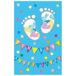 SUSY CARD Geburtskarte Konfetti Junge