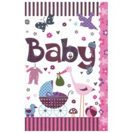 SUSY CARD Geburtskarte Sweet sunshine Kinderwagen, rosa