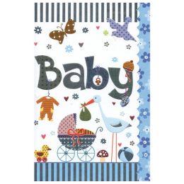 SUSY CARD Geburtskarte Sweet sunshine Kinderwagen, blau
