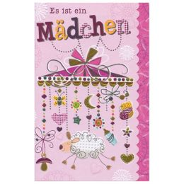 SUSY CARD Geburtskarte Sweet sunshine Mobile, rosa
