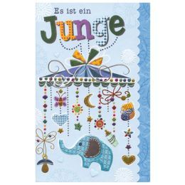 SUSY CARD Geburtskarte Sweet sunshine Mobile, blau