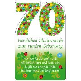 SUSY CARD Geburtstagskarte - 70. Geburtstag Blumenfond