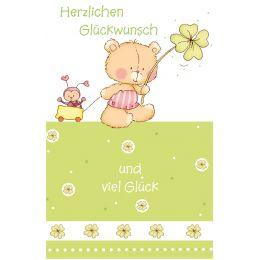 "SUSY CARD Geburtstagskarte B""rchen Kleeblatt"