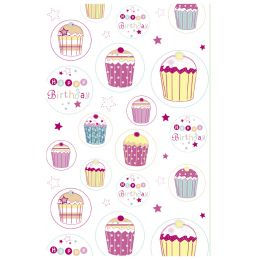 SUSY CARD Geburtstagskarte Cupcake
