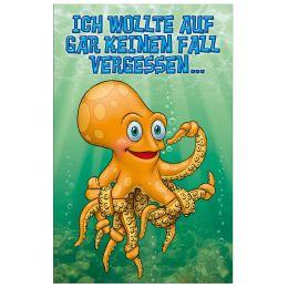 SUSY CARD Geburtstagskarte - Humor Krake