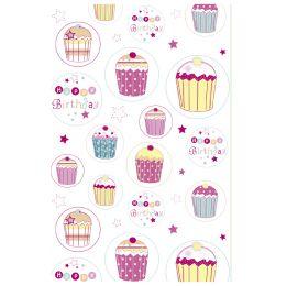 SUSY CARD Geburtstagskarte Muffin mit Kerzen