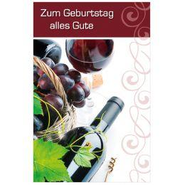 SUSY CARD Geburtstagskarte Vin rouge