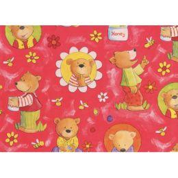 SUSY CARD Geschenkpapier Honigbär rot, auf Rolle