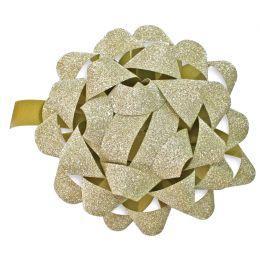 SUSY CARD Geschenkrosetten Glitter, gold