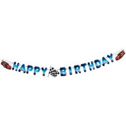 SUSY CARD Girlanden-Kette Happy Birthday - Super Racer