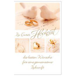 SUSY CARD Hochzeitskarte für Geldschein zwei Tauben